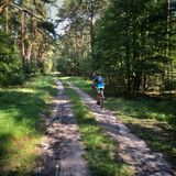 Bicycling in Poland Stock Photo
