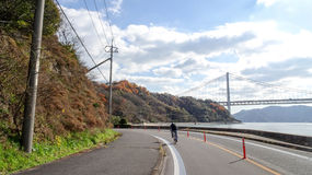 Bicycling scenery at Onomichi Royalty Free Stock Photos