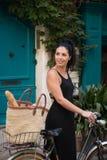 Bicycling в St Tropez Стоковые Фото