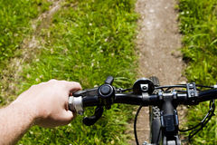 Bicycling on a trail Royalty Free Stock Photography
