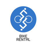 Bicycling vector design element, logo Stock Photos