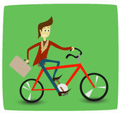 Bicyclist Stock Image