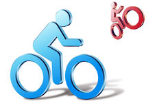 Bicyclist libre illustration