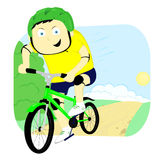 Bicyclist Stock Photo