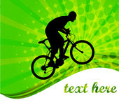 Bicyclist on the abstract background Stock Photography