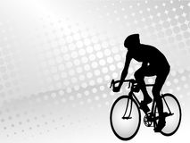 Bicyclist background Royalty Free Stock Image