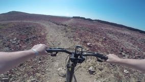 Bicyclist on the bike stock video footage