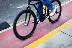 Bicyclist bike path Royalty Free Stock Image