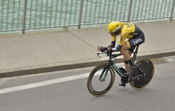 Bicyclist in competition of Tour de France 2015 which was held in Switzerland