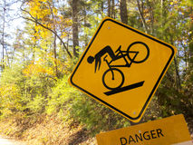 Bicyclist Danger Royalty Free Stock Images