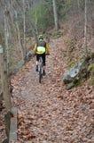 Bicyclist i jego przygoda fotografia stock