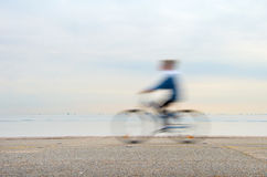 Bicyclist, motion blur Stock Images