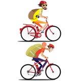 Bicyclist set Royalty Free Stock Photo