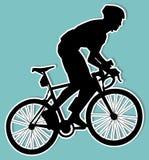 Bicyclist sticker Stock Photo