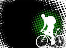 Bicyclist sui precedenti astratti Immagine Stock