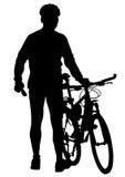 Bicyclist sulla vacanza Fotografia Stock