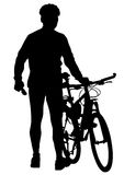 Bicyclist on vacation Stock Photo
