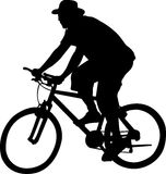 Bicyclist - vector Royalty Free Stock Photos
