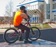 Bicyclist3 Image libre de droits