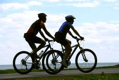 Bicyclists Royalty Free Stock Photos