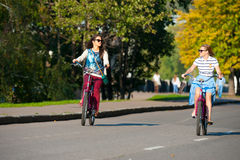 Bicyclists Stock Images