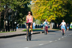 Bicyclists Royalty Free Stock Photo