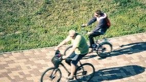 bicyclists Stock Afbeeldingen