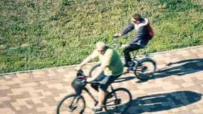bicyclists Immagini Stock