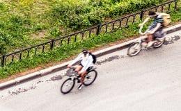 bicyclists Imagen de archivo libre de regalías