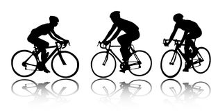 Bicyclists stock illustration