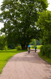 bicyclists alcuni Fotografia Stock