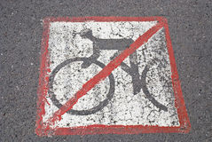 Bicyclists don't have a road Stock Photography