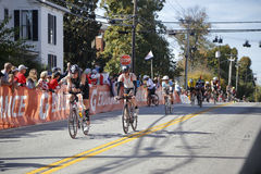 Bicyclists in the 2015 Louisville Ironman Triathlon Royalty Free Stock Photography