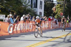 Bicyclists in the 2015 Louisville Ironman Triathlon Stock Photos