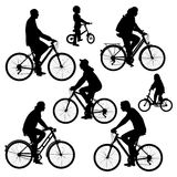 Bicyclists royalty free illustration
