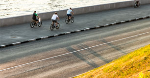 Bicyclists Stock Image