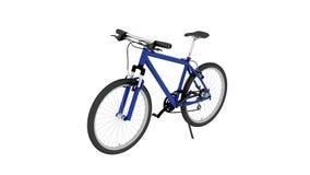 Bicykl, błękitny rower odizolowywający na białym tle ilustracji