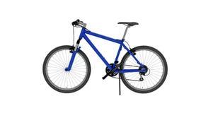 Bicykl, błękitny rower odizolowywający na białym tle, boczny widok royalty ilustracja