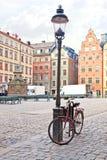 Bicykl blisko lamppost Obraz Stock