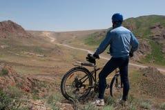 Bicykl i droga Fotografia Stock