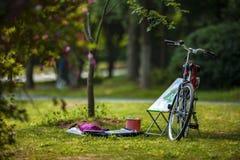 Bicykl i sztaluga Fotografia Royalty Free