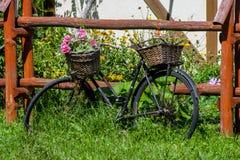 Bicykl jako flowerbed zdjęcia stock