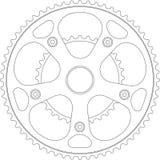 bicykl korba royalty ilustracja