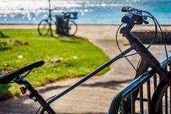 Bicykl na stojaku Zdjęcie Stock
