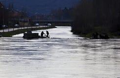 Bicykl nad wodą Trebinje zgadzający się terenu teren kartografuje ważny ścieżki ulga cieniącego stan otaczający terytorium miasto obrazy royalty free