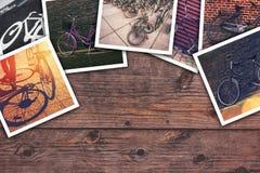 Bicykl obrazuje kolaż Obrazy Royalty Free