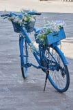 Bicykl ozdabiający z kwiatami Obraz Royalty Free