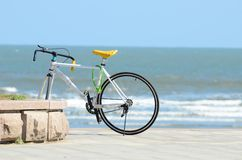 Bicykl przy plażą Zdjęcie Stock