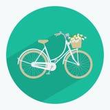 Bicykl robić w mieszkanie stylu Fotografia Royalty Free