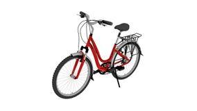 Bicykl, rower odizolowywający na białym tle royalty ilustracja
